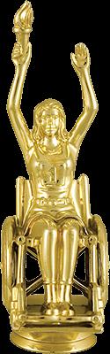 Фигура пластиковая Паралимпиец женская