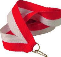 Лента для медали красно-белая