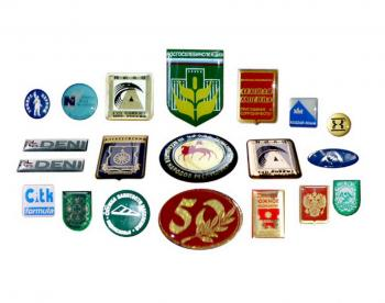 Эмблемы заливные