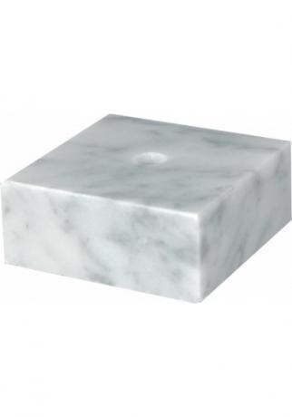 Цоколь мраморный белый