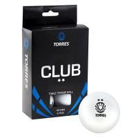 Мяч для настольного тенниса Torres Club 2 (6 штук)