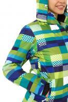 Женская зимняя горнолыжная куртка желтого-зеленого цвета_3