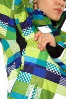 Женская зимняя горнолыжная куртка желтого-зеленого цвета_1