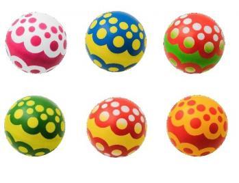 Мяч резиновый (детский) лакир. 200 мм (ягодка), арт. P4-200