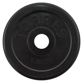 Диски черные обрез.TORRES 10,0 кг D=25 мм, арт. PL507110