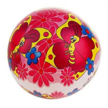 Мяч дет. Бабочки 22 см, 60 гр, арт. 165706