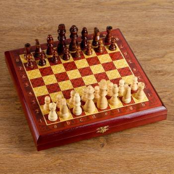 """Шахматы """"Тёмно-красная классика """"30x30 см, арт. 334715"""