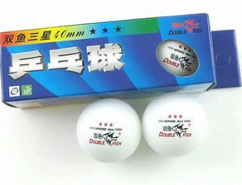 Мяч для настольного тенниса 40 мм Fish*** (3 шт), 111/40