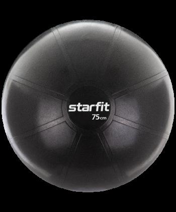 Фитбол STARFIT PRO 75см без насоса 1400гр черный (антивзрыв) GB-107