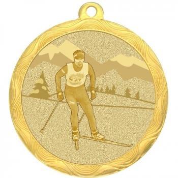 Медаль лыжи 50мм MZ 82-50