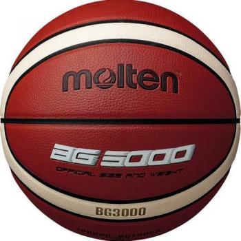 """Мяч баск. """"MOLTEN B7G3000"""" р.7, 12 панелей,синт. кожа (ПВХ), бут.кам,нейл.корд,кор-беж-чер B7G3000"""