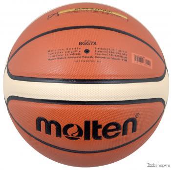 Мяч б/б  № 7 MOLTEN BGG7X( FIBA) синт.кожа(ПУ микрофибра) BGG7X
