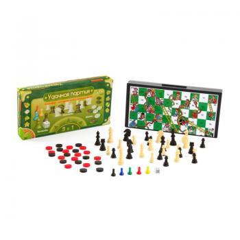 Набор игр 3 в 1(шашки,шахм,бродилка) 9832(ВВ0692)