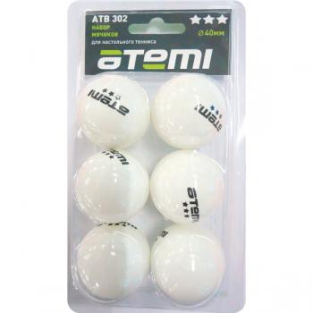 Мяч для настольного тенниса Atemi 3*, 302