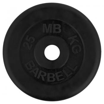 Диски черные обрезиненные 10 кг D-25 мм